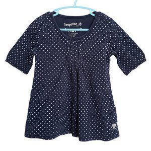 TANGERINE Navy Blue with White Polka Dots 5